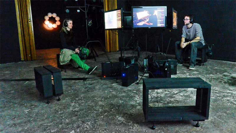 telematique, installation, IN THAT WEIRD PART, A/V Installation, general public, Berlin, 2012